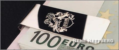 Geldscheinklammer aus Echtsilber