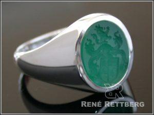 Achat Siegelring grün
