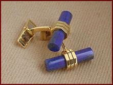 Hier können Sie in anspruchsvoller Qualität Manschettenknöpfe mitLapislazuli-blau oder Onyx-schwarz herstellen lassen