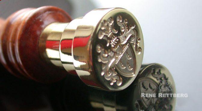 Petschaft mit Wappengravur in Juwelierqualität