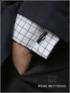 Manschettenknopf Onyx schwarz