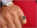 oval 12x10mm mit breiter Ringform