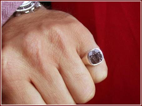 Kleiner größe herren ring finger ❱❱Siegelring Kleiner