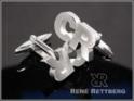Initialen Manschettenknöpfe Sterling Silber 925
