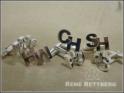 Initialen Manschettenknoepfe Silber 925 Sterling