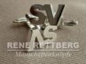 Initialen Manschettenknopf Silber
