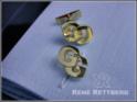 Initialen Manschettenknopf für Doppelmanschette