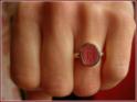 12x10mm oval, römische Ringform18karat