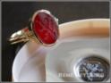 roemischer Wappenring-mit Löwengravur in rotem Carneol