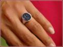 14x12 mm oval mit stark taillierter Ringform
