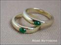 Bandringe als Verlobungsringe mit Smaragd