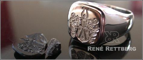 Wir arbeiten Ihren Wappenring oder Siegelring nach Ihren Wünschen um.
