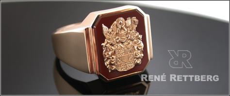 Wappenringe anfertigung 14 Karat Gold und 18 Karat Gold